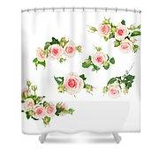 Graden Roses Shower Curtain