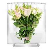Garden Roses Bouquet Shower Curtain