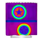 Violet Circus Shower Curtain