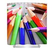 Violet. Colored Pencils Shower Curtain