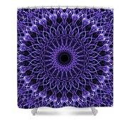 Violet Digital Mandala Shower Curtain