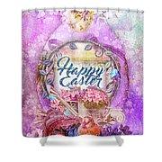 Violet Easter Shower Curtain