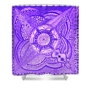 Violet Energy Shower Curtain