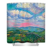 Violet Evening On Rocky Knob Shower Curtain