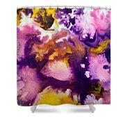 Violet Explosion  Shower Curtain