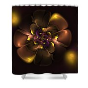 Violet For Daddy Shower Curtain