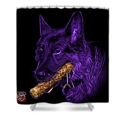 Violet German Shepard And Toy - 0745 F Shower Curtain