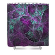 Violet Green Dimensions 16x9 Shower Curtain