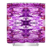 Violet Groove- Art By Linda Woods Shower Curtain