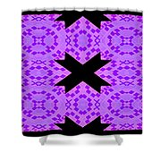 Violet Haze Abstract Shower Curtain