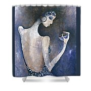 Violet Inspiration Shower Curtain