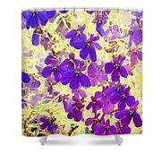Violet Moths Shower Curtain