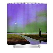 Violet Night Shower Curtain
