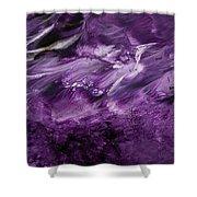 Violet Rhapsody- Art By Linda Woods Shower Curtain