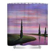 Violet Sky Shower Curtain