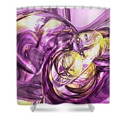 Violet Summer Abstract Shower Curtain
