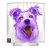 Violet Terrier Mix 2989 - Wb Shower Curtain