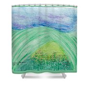 Violets In The Summertime Shower Curtain