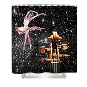 Violin And Ballet Dancer Number 1 Shower Curtain