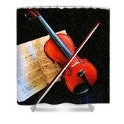 Violin Impression Shower Curtain