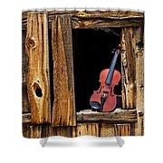 Violin In Window Shower Curtain