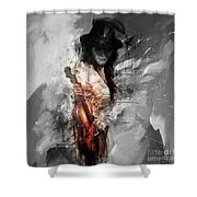 Violin Lady 021 Shower Curtain