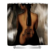 Violin Lady 05 Shower Curtain