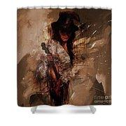 Violin Lady  Shower Curtain