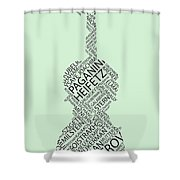 Violin Of Fame Shower Curtain