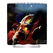 Violin Painting Art 321 Shower Curtain