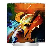 Violin Painting Art 51 Shower Curtain