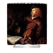 Violin Player 1653 Shower Curtain