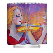 Violin Player Shower Curtain