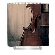 Violin Portrait  Shower Curtain