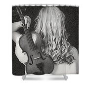 Violin Woman - Id 16218-130643-9888 Shower Curtain
