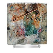 Violinist 56 Shower Curtain