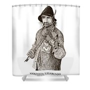 Violinista Busker Vagabundo Shower Curtain