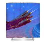 Viper Shower Curtain by Corey Ford