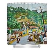 Virajpet Town Shower Curtain
