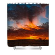Virga Sunset Shower Curtain