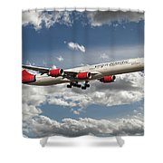 Virgin Airbus A340 G-vgas Shower Curtain