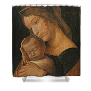 Virgin And Child 1470 Shower Curtain