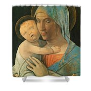Virgin And Child 1495 Shower Curtain