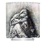Virgin And Child Madonna Of Humility 1490 Shower Curtain