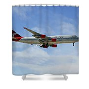 Virgin Atlantic Boeing 747-443 Shower Curtain