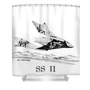 Virgin Galactic Vehicle. Space Ship Two Shower Curtain