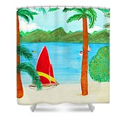 Virgin Island Memories Shower Curtain