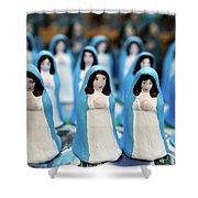 Virgin Mary Figurines Shower Curtain