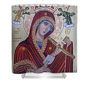 Virgin Mary Of Death Shower Curtain