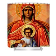 Virgin Mary Old Painting Shower Curtain